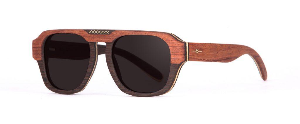 Aberkane side Wenge Bubenga Sunglasses Designer Eyewear