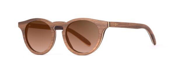Charlie Iconic Walnut Designer Sunglasses VAKAY