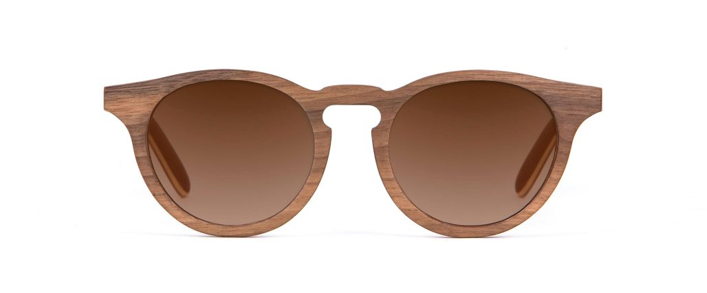 Charlie Iconic Walnut Wood Designer Sunglasses VAKAY