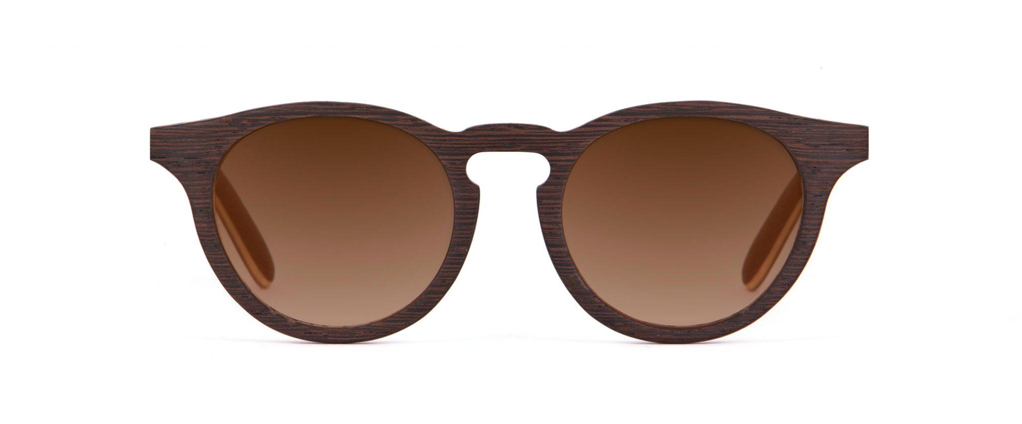 Charlie Iconic Wenge Wood Designer Sunglasses VAKAY