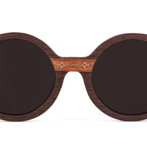 Dihya Round Designer Sunglasses VAKAY with Gold