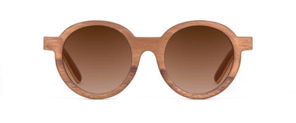 Hippy Hippy Walnut Round Designer Sunglasses VAKAY