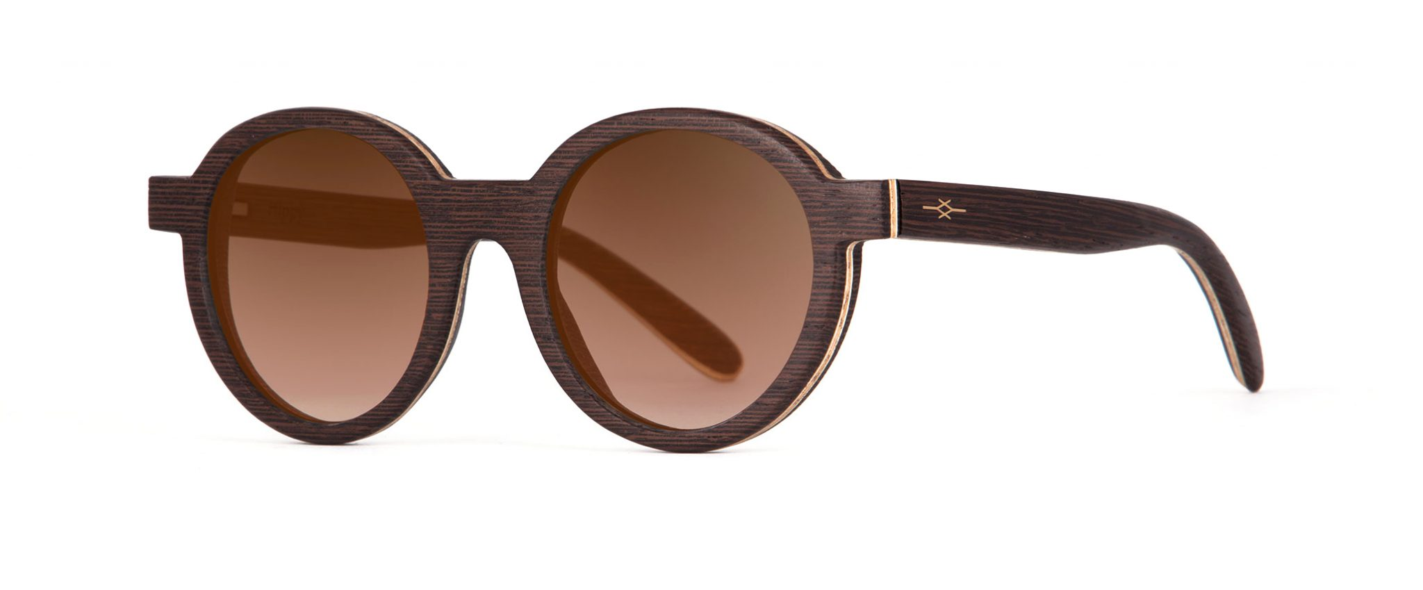 Hippy Wenge Round Designer Sunglasses VAKAY