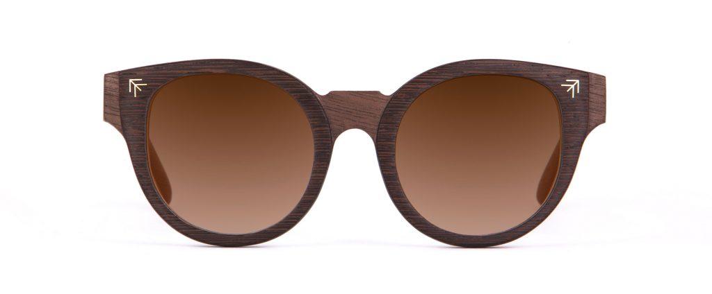 Ithran front Walnut Wenge Sunglasses Designer Eyewear Berber Tattoos