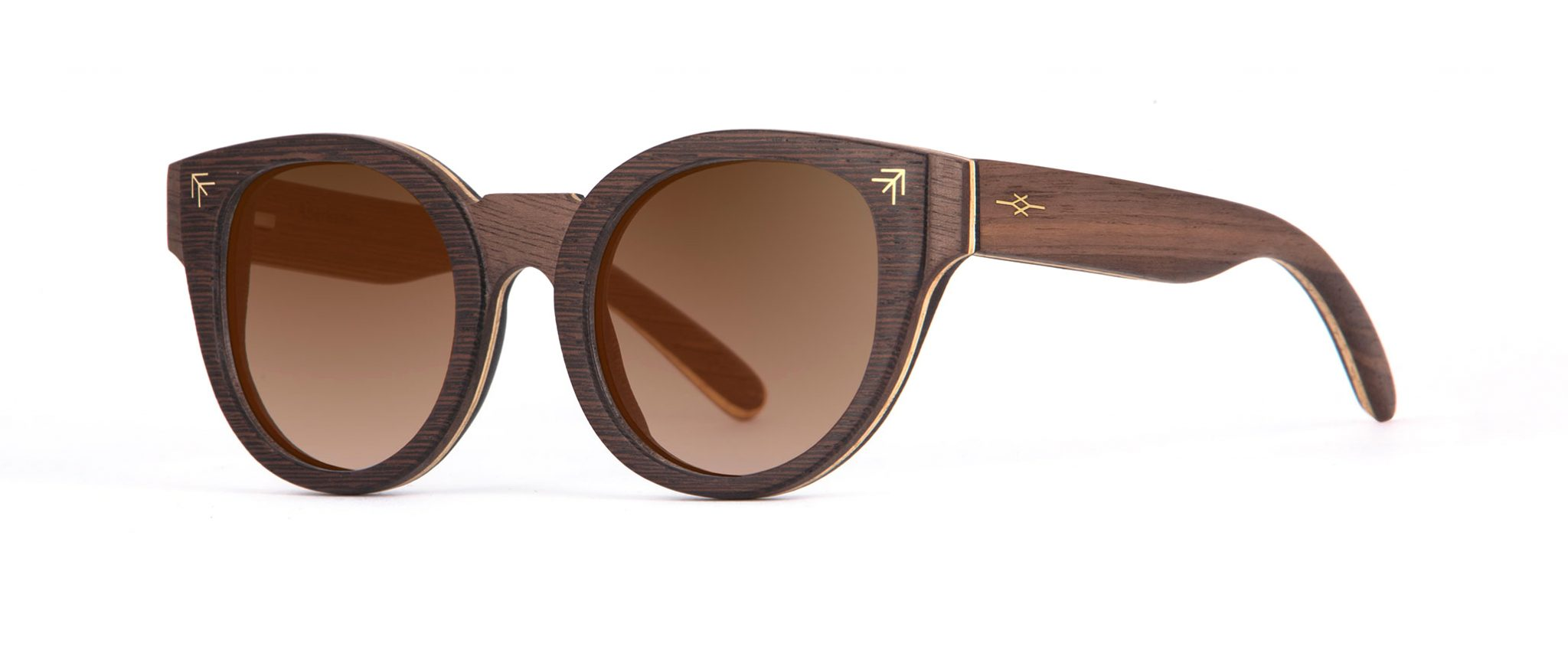 Ithran side Walnut Wenge Sunglasses Designer Eyewear Berber Tattoos