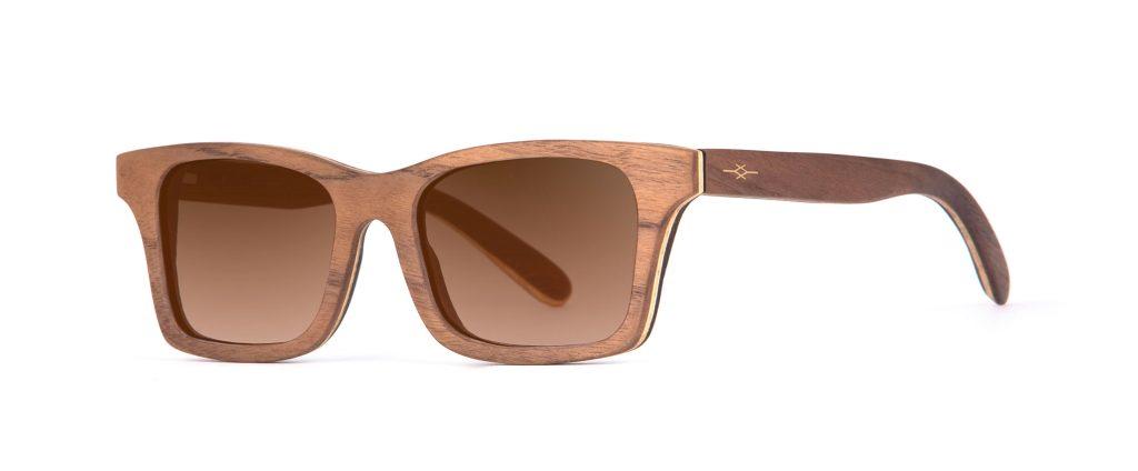 Mr Miles Walnut Iconic Designer Sunglasses