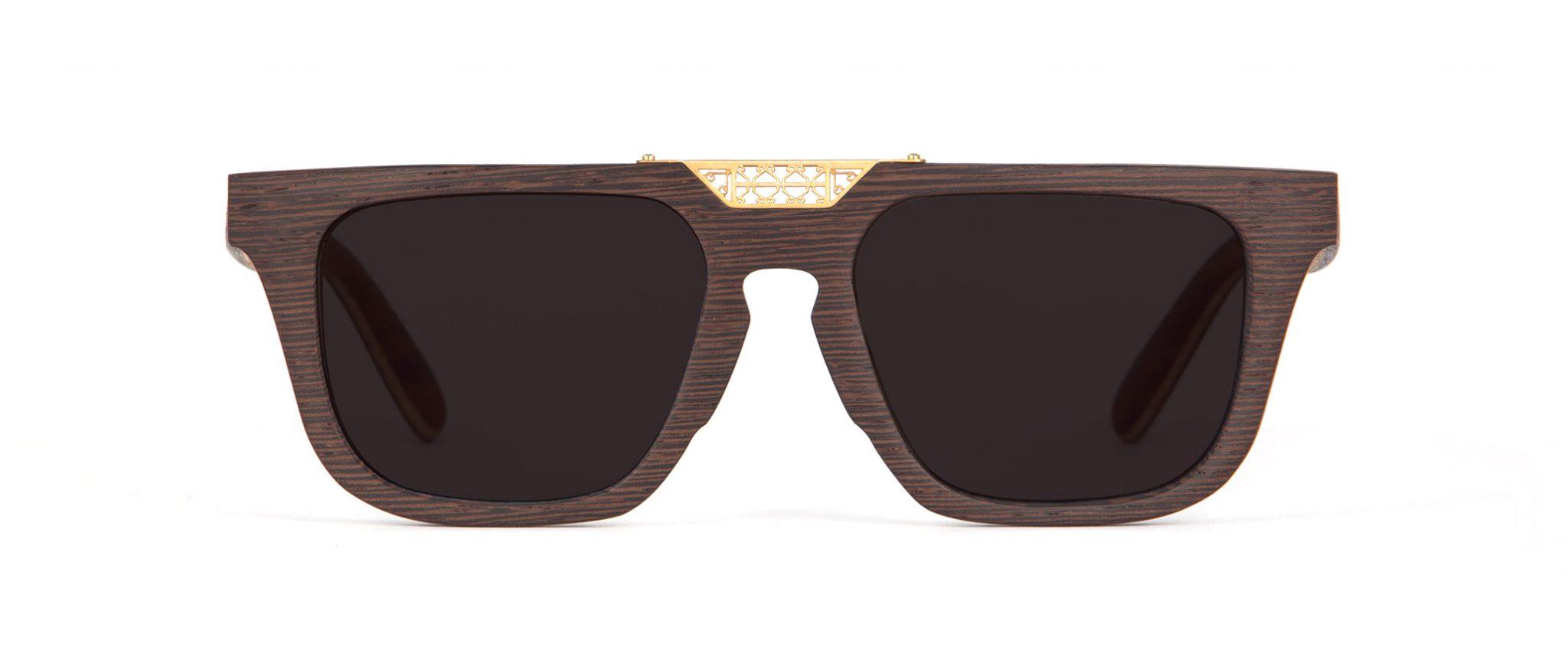 sultan  Wenge. Wood Unique Designer Sunglasses.