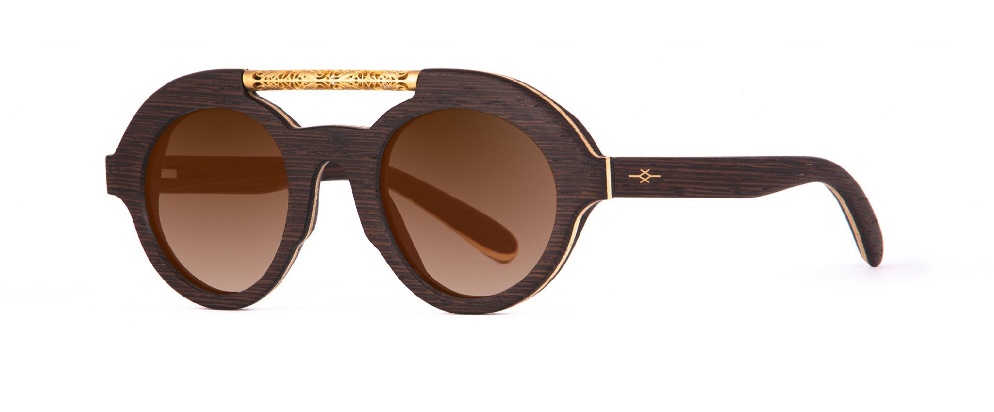Sultana Featuring Jewelry Wenge Wood Sunglasses Designer Eyewear