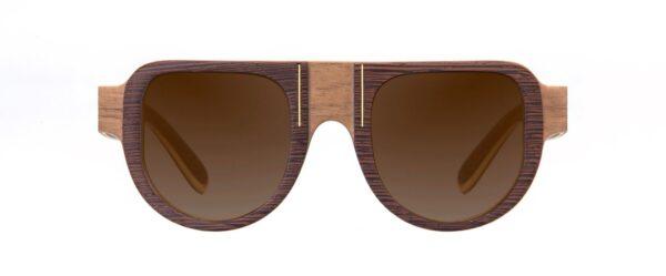 Maasaï Vakay designer sunglasses Walnut