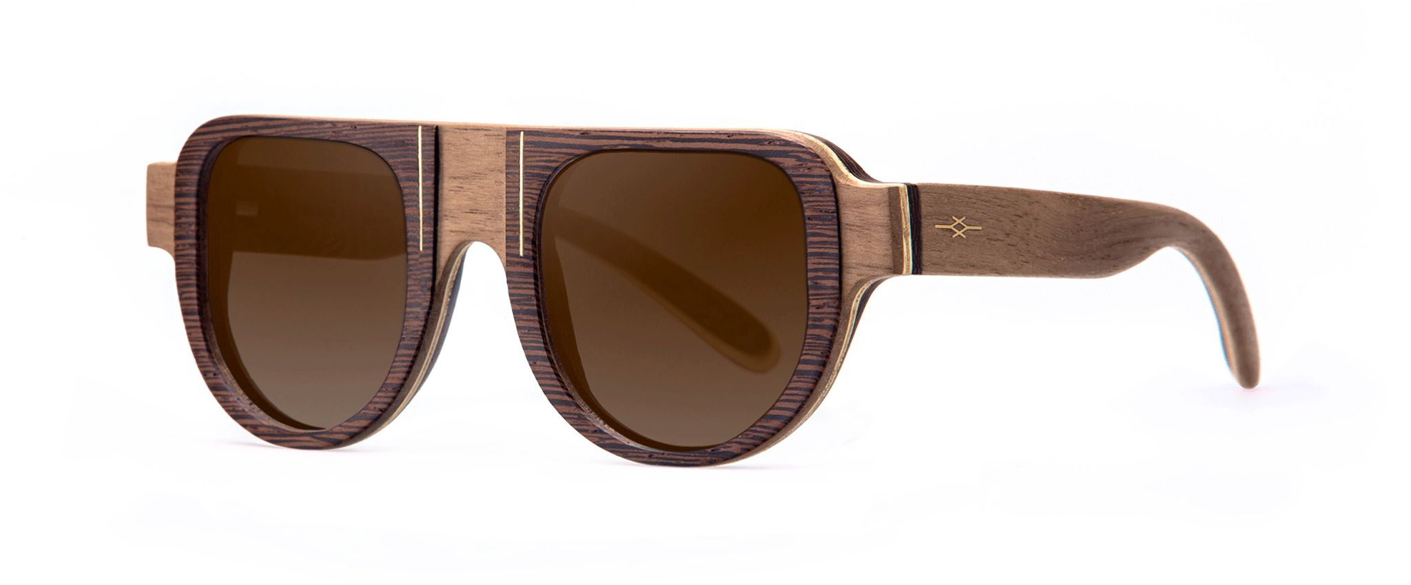 Maasaï Walnut Vakay designer sunglasses