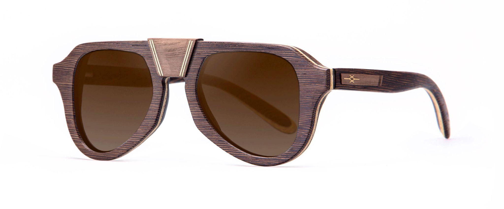 Aganjù Walnut Vakay designer sunglasses