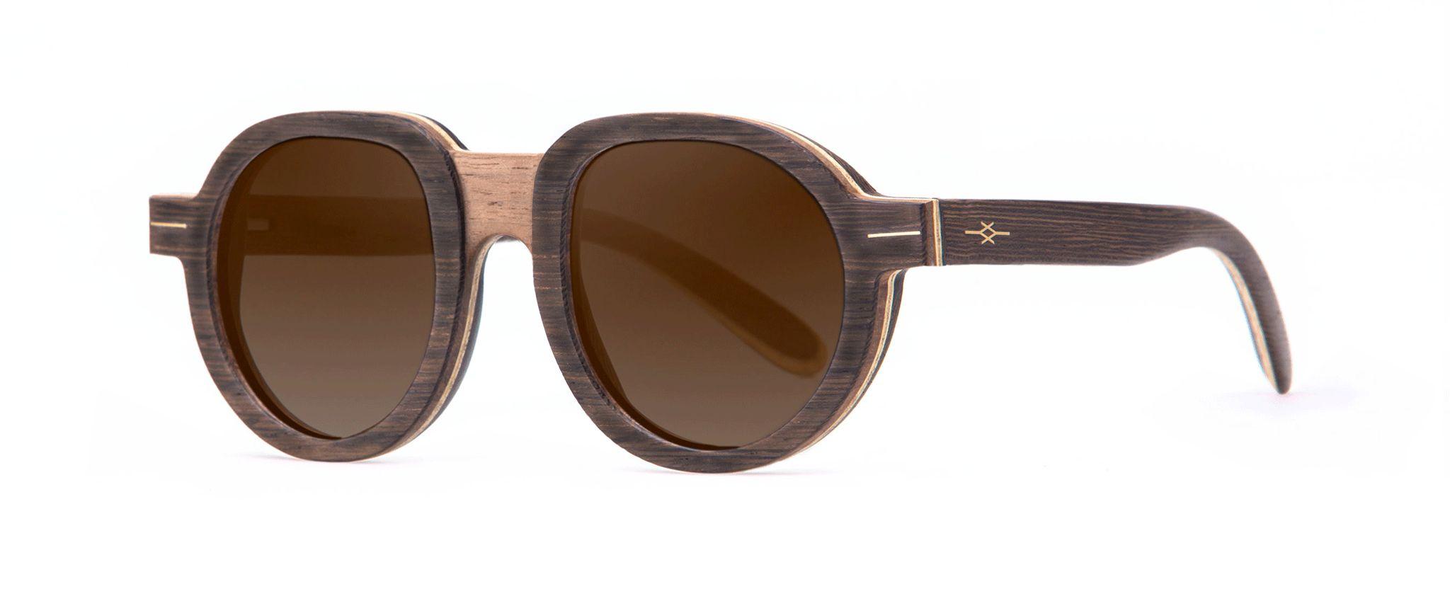 Mamba Vakay designer sunglasses Walnut