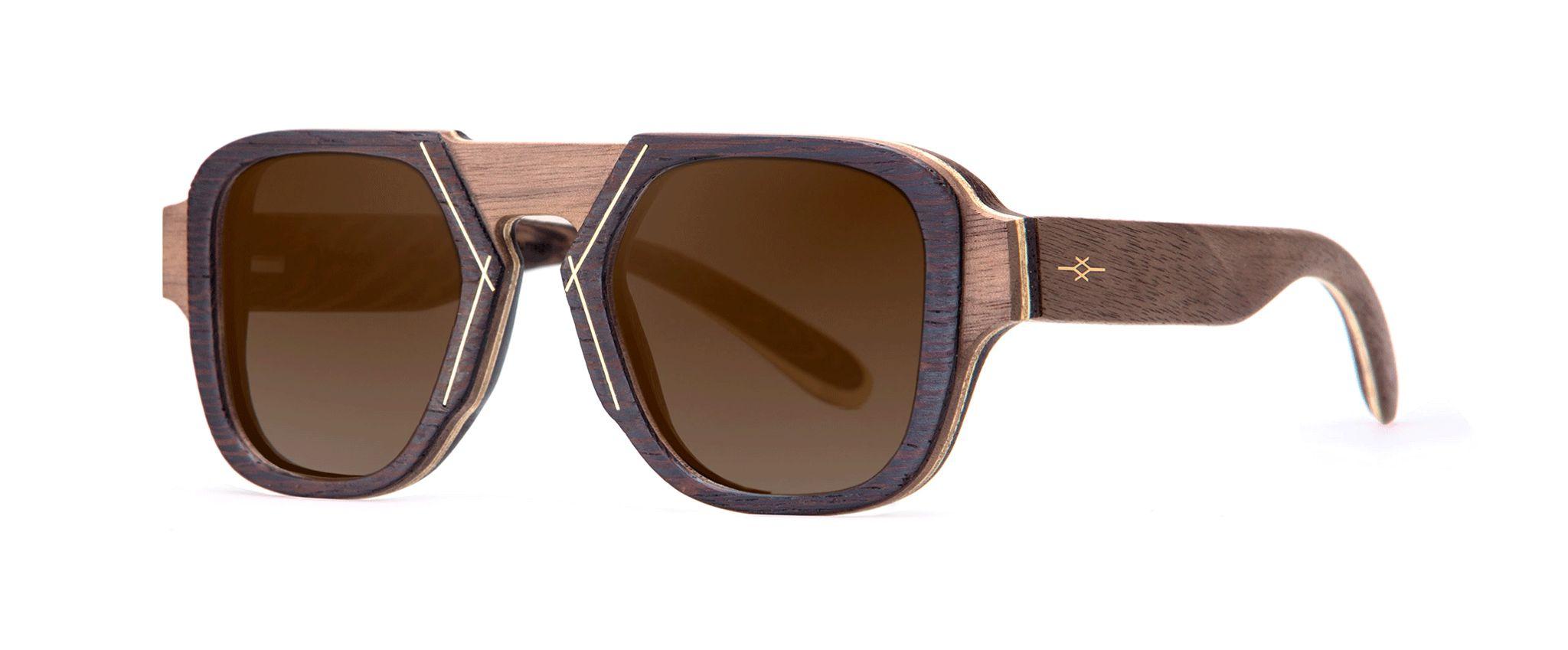 Voodoo Vakay designer sunglasses Walnut