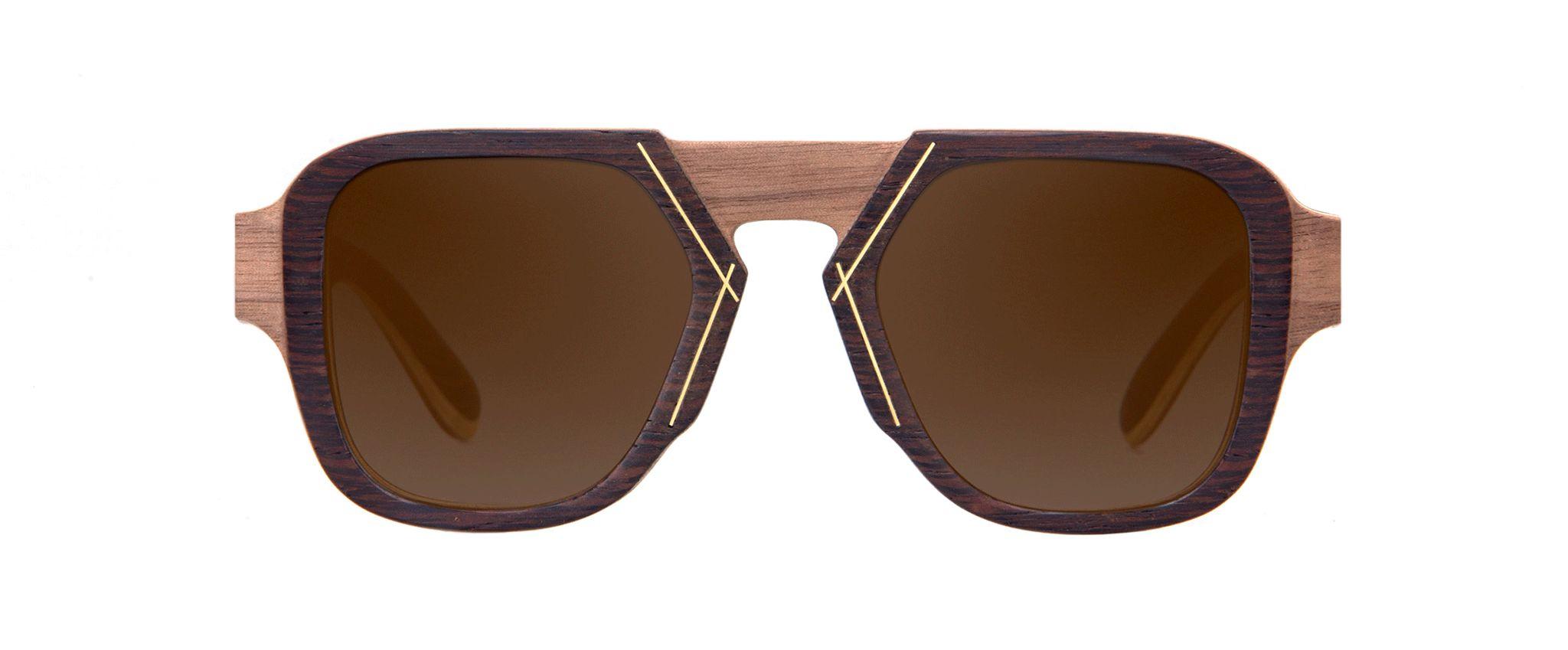 Voodoo walnut Vakay designer sunglasses