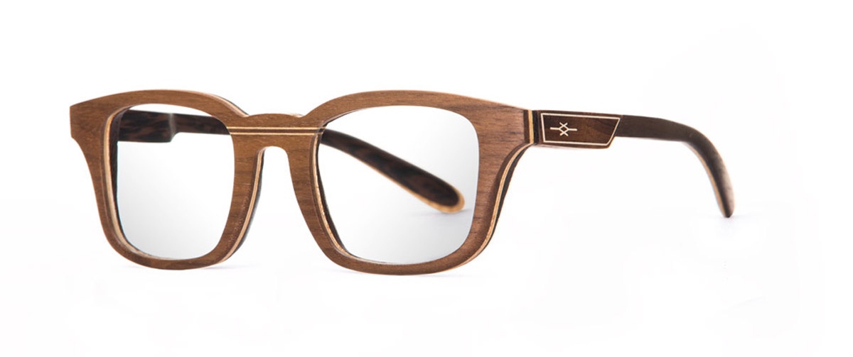 Re walnut VAKAY handmade glasses