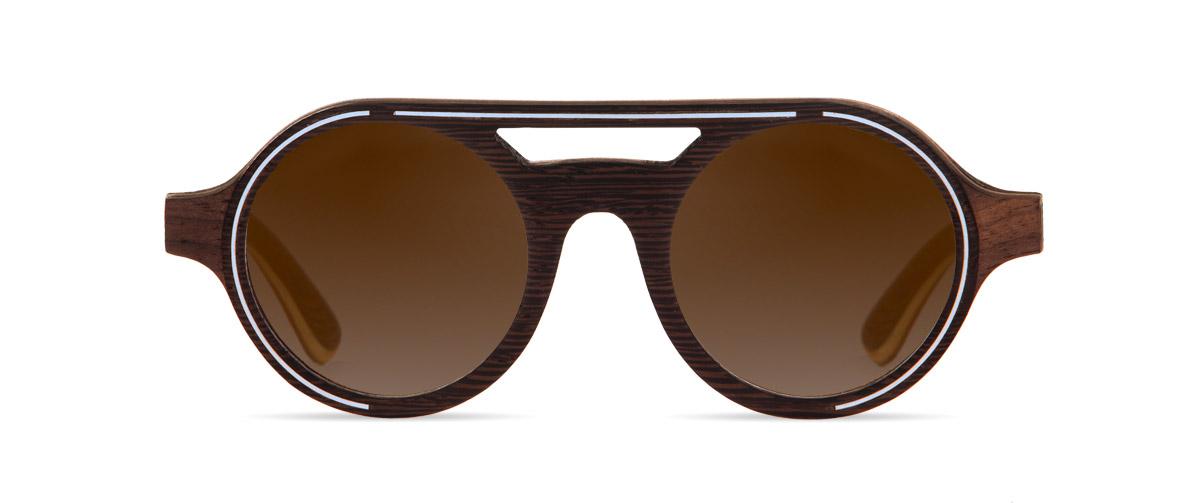 Atlas Wenge VAKAY Eyewear handmade sunglasses